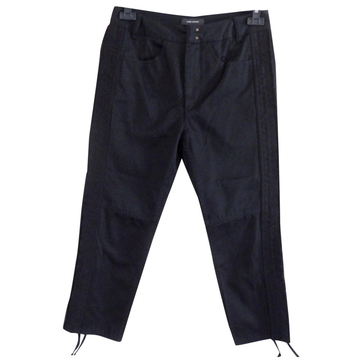Isabel Marant \N Black Cotton Trousers for Women 36 FR