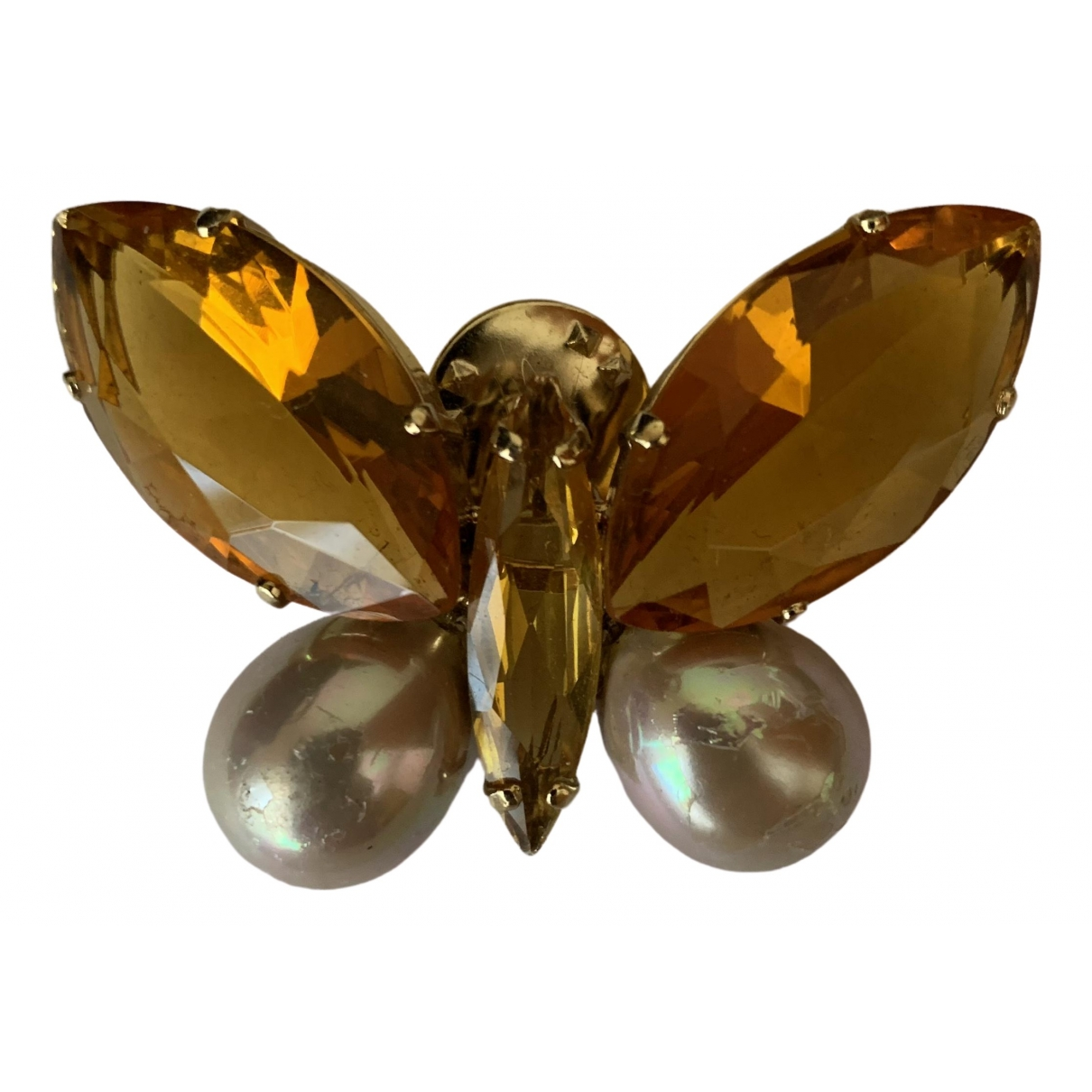 - Broche Motifs Animaliers pour femme en metal - jaune
