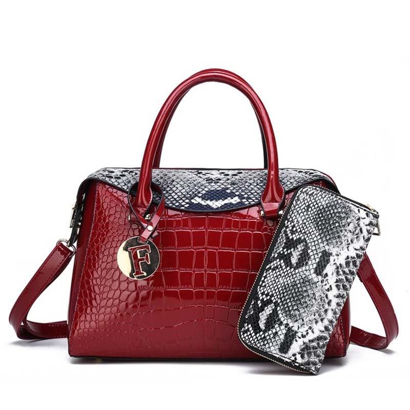 Ericdress Alligator Thread PU Pillow Handbag