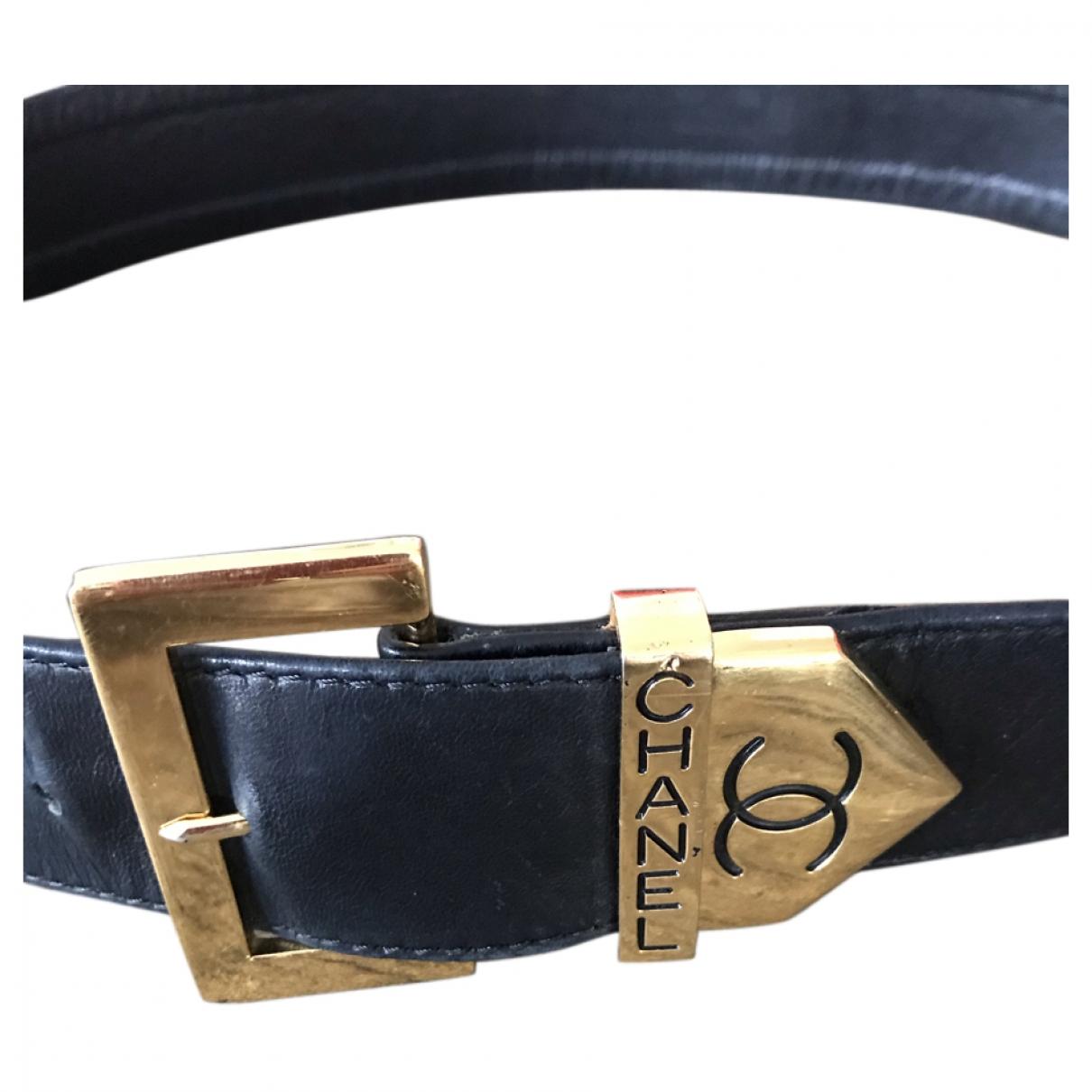 Chanel \N Black Leather belt for Women S International