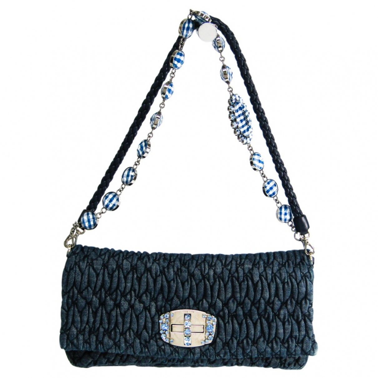 Miu Miu Matelassé Blue Denim - Jeans handbag for Women \N