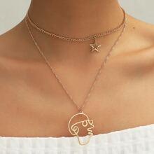 2pcs Star Charm Necklace