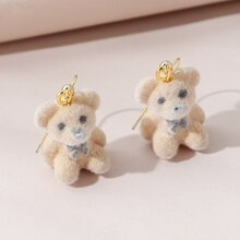 Cartoon Bear Charm Drop Earrings