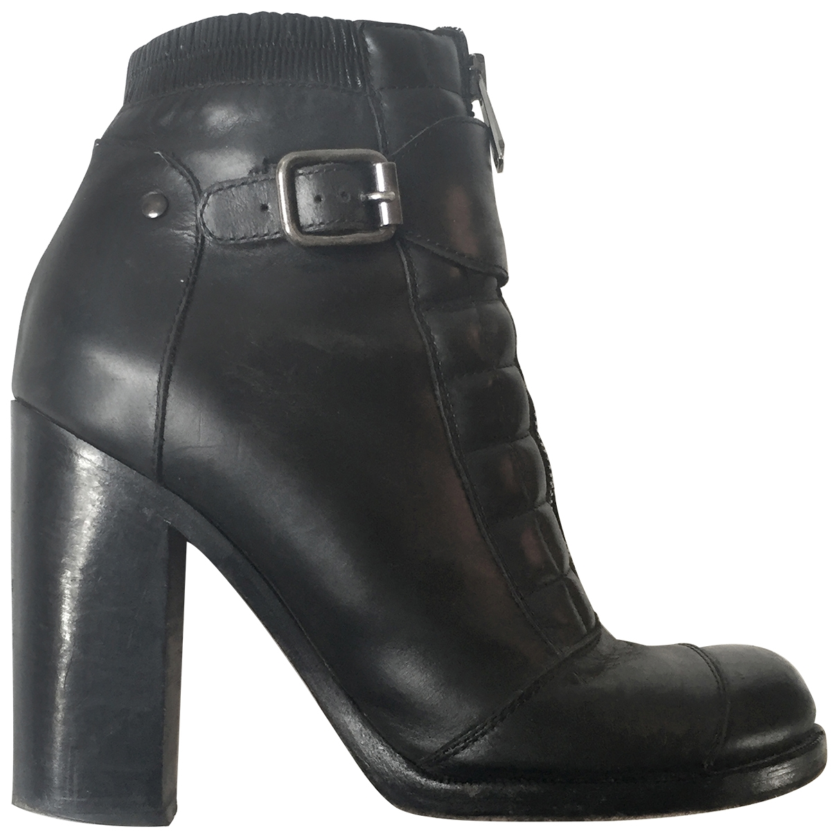 Vanessa Bruno \N Black Leather Ankle boots for Women 39 EU