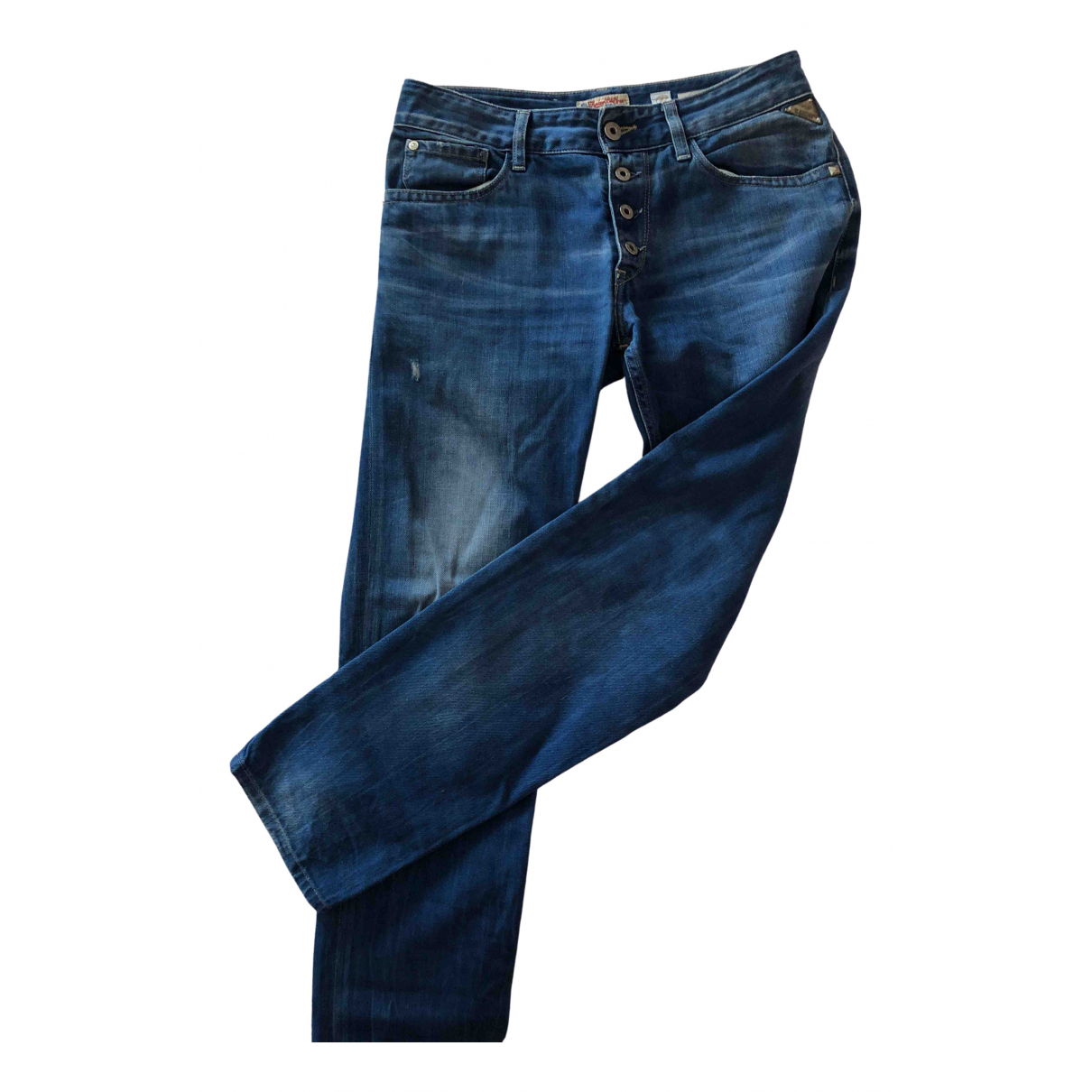 Replay \N Blue Cotton Jeans for Women 26 US