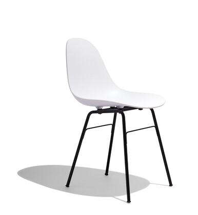 TA Collection TO-1511W-1501BB Side Chair/Yi Base Black Stained Oak/White