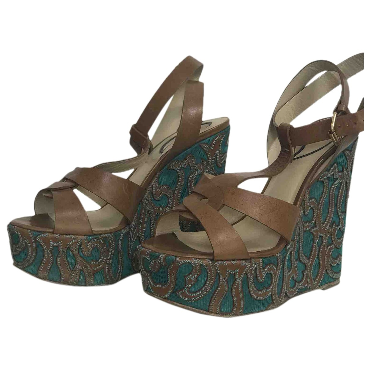 Etro \N Brown Leather Sandals for Women 39 EU
