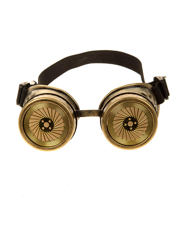Kostuemzubehor Brille Steampunk gold
