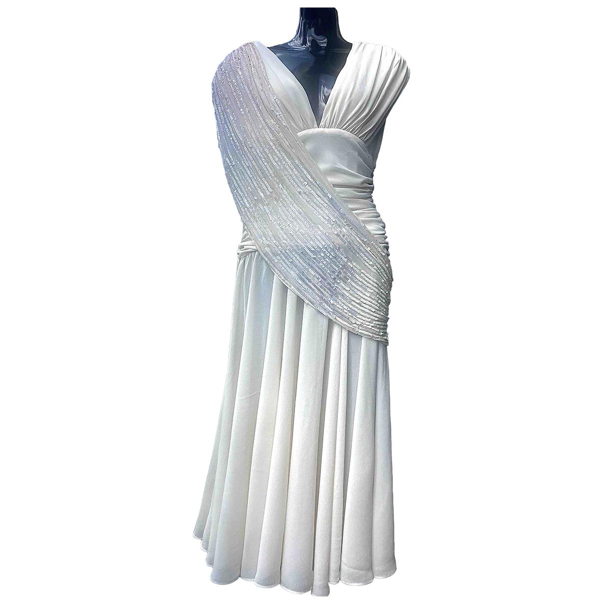 Casadei \N Kleid in  Beige Synthetik