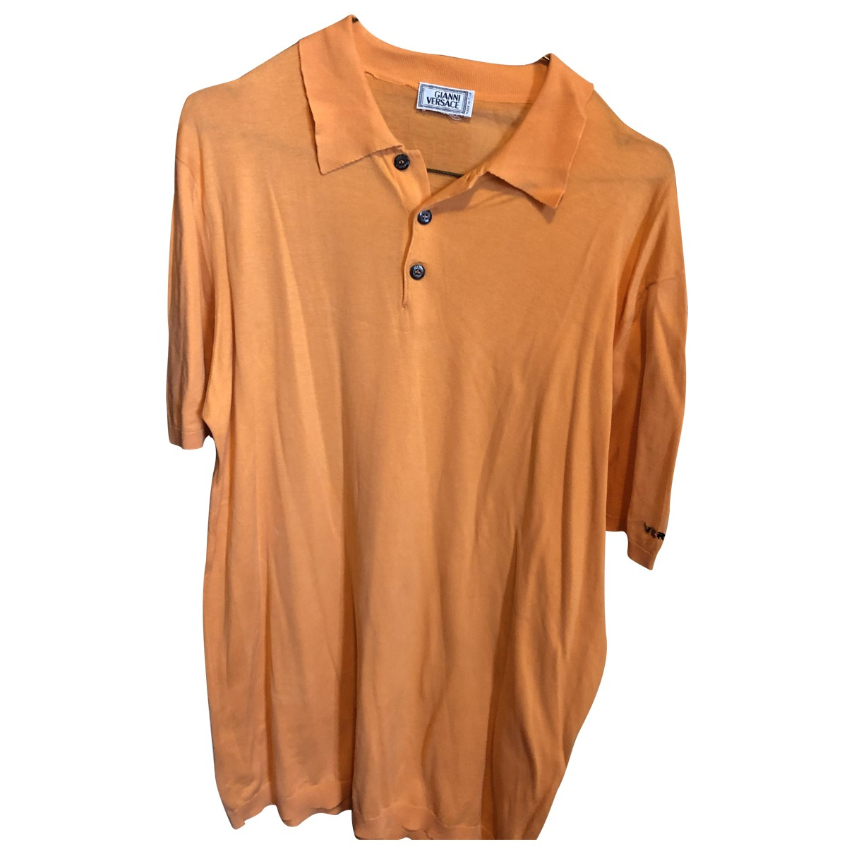 Polo en Algodon Naranja Gianni Versace