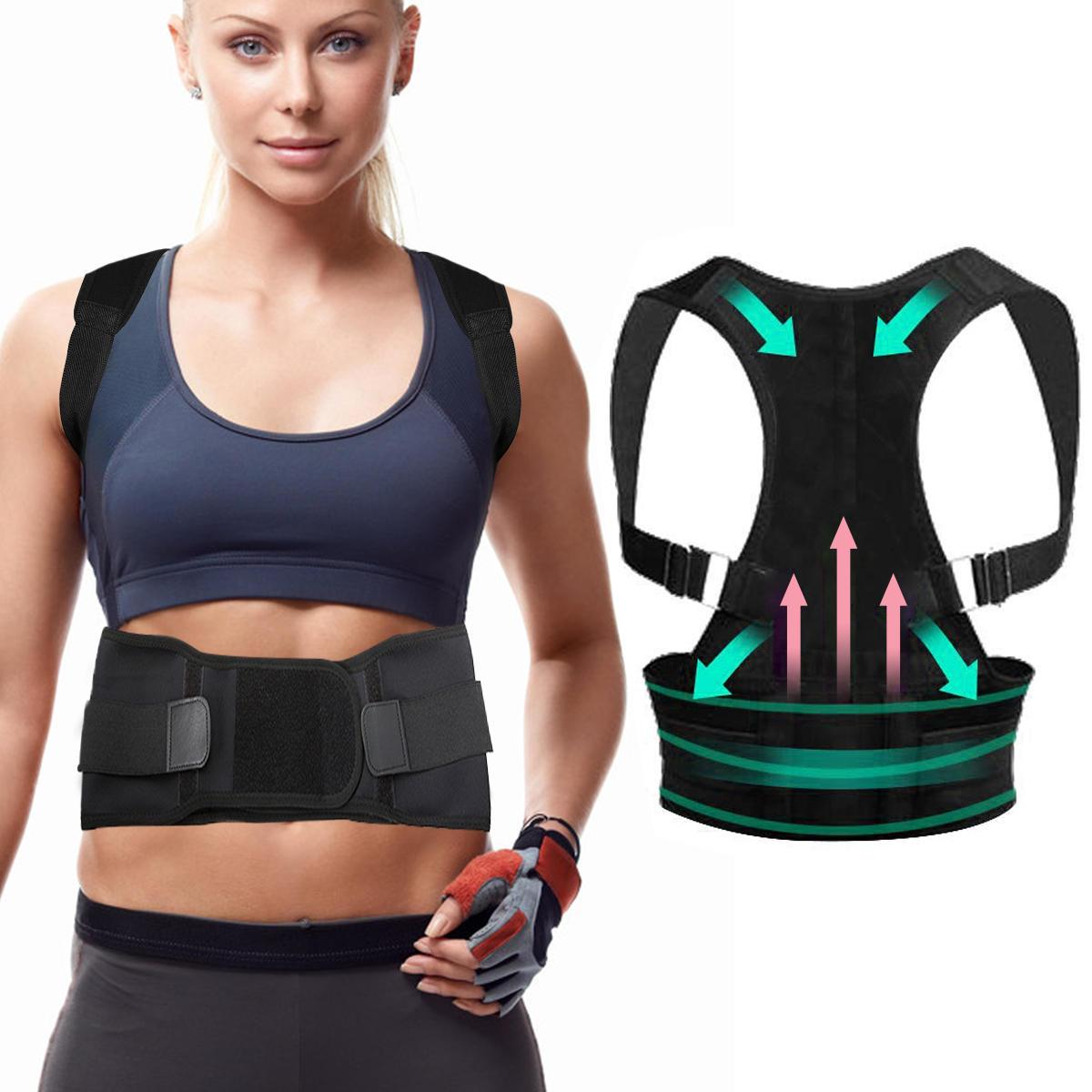 CHARMINER® Back Support Straight Posture Corrector Shoulder Back Trainer Fitness Protective Gear