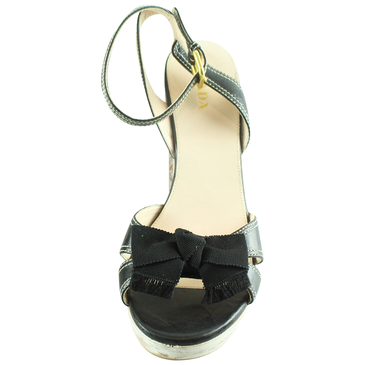 Prada \N Black Patent leather Sandals for Women 41 EU