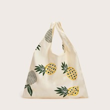 Pineapple Graphic Large Capacity Tote Bag