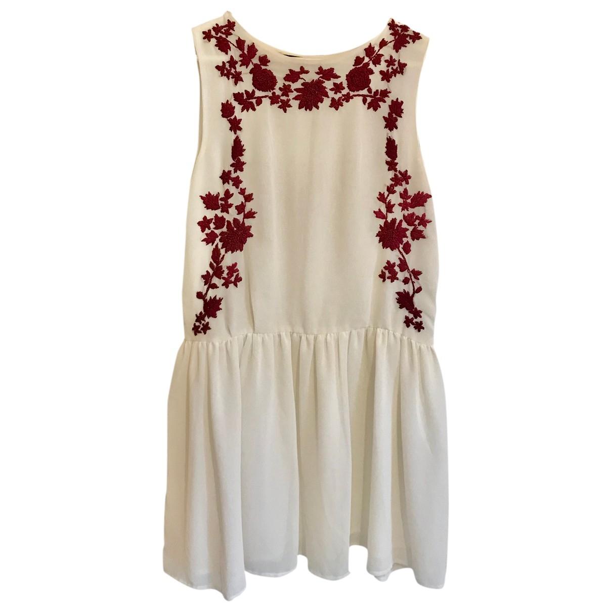 Zara \N White dress for Women 36 FR