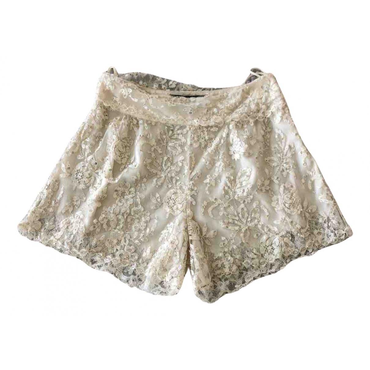 Jenny Packham \N Shorts in  Weiss Mit Pailletten