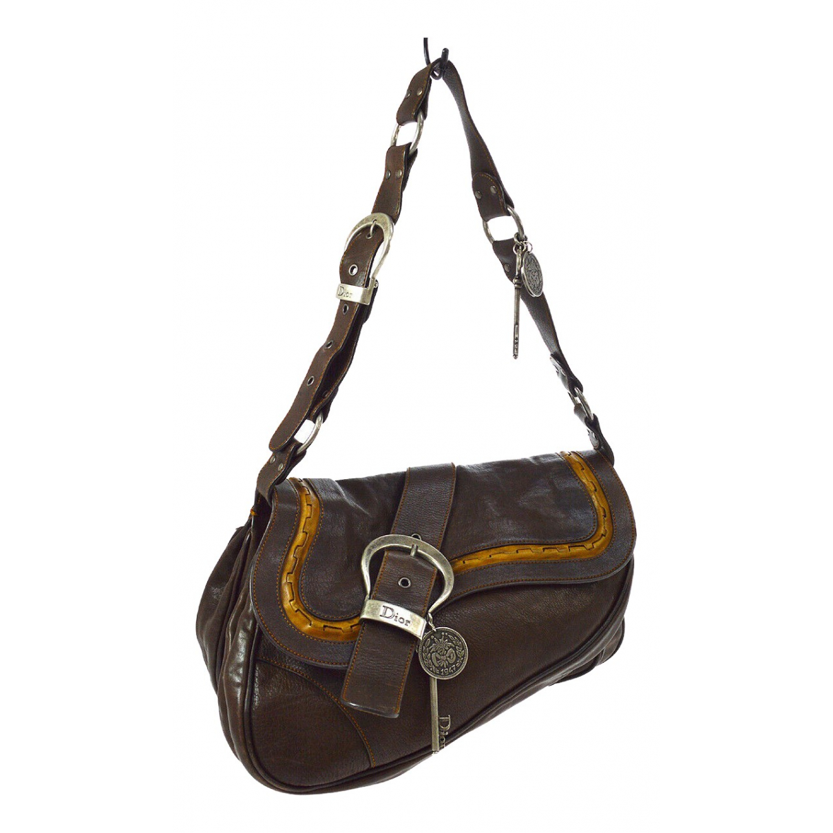 Dior Gaucho Brown Leather handbag for Women \N
