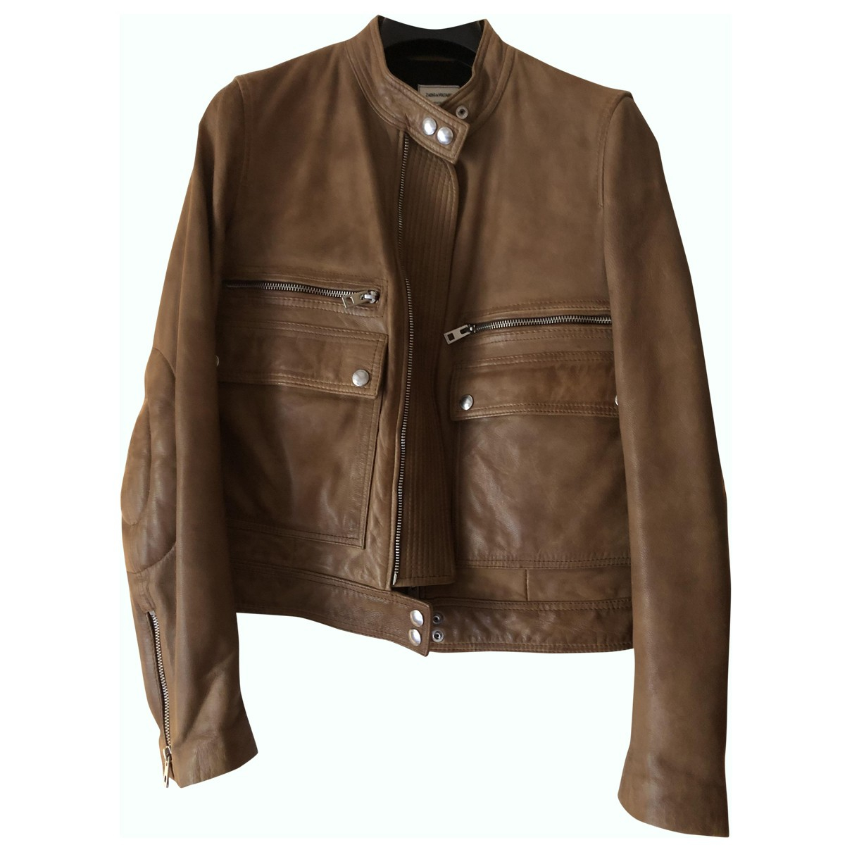 Zadig & Voltaire N Brown Leather Leather jacket for Women L International