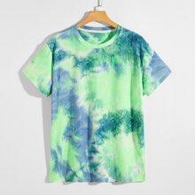 Strick T-Shirt mit Batik
