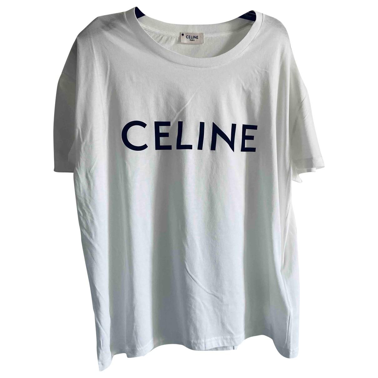 Celine \N White Cotton T-shirts for Men L International