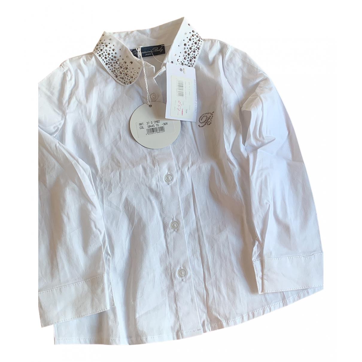 Blumarine - Top   pour enfant en coton - blanc