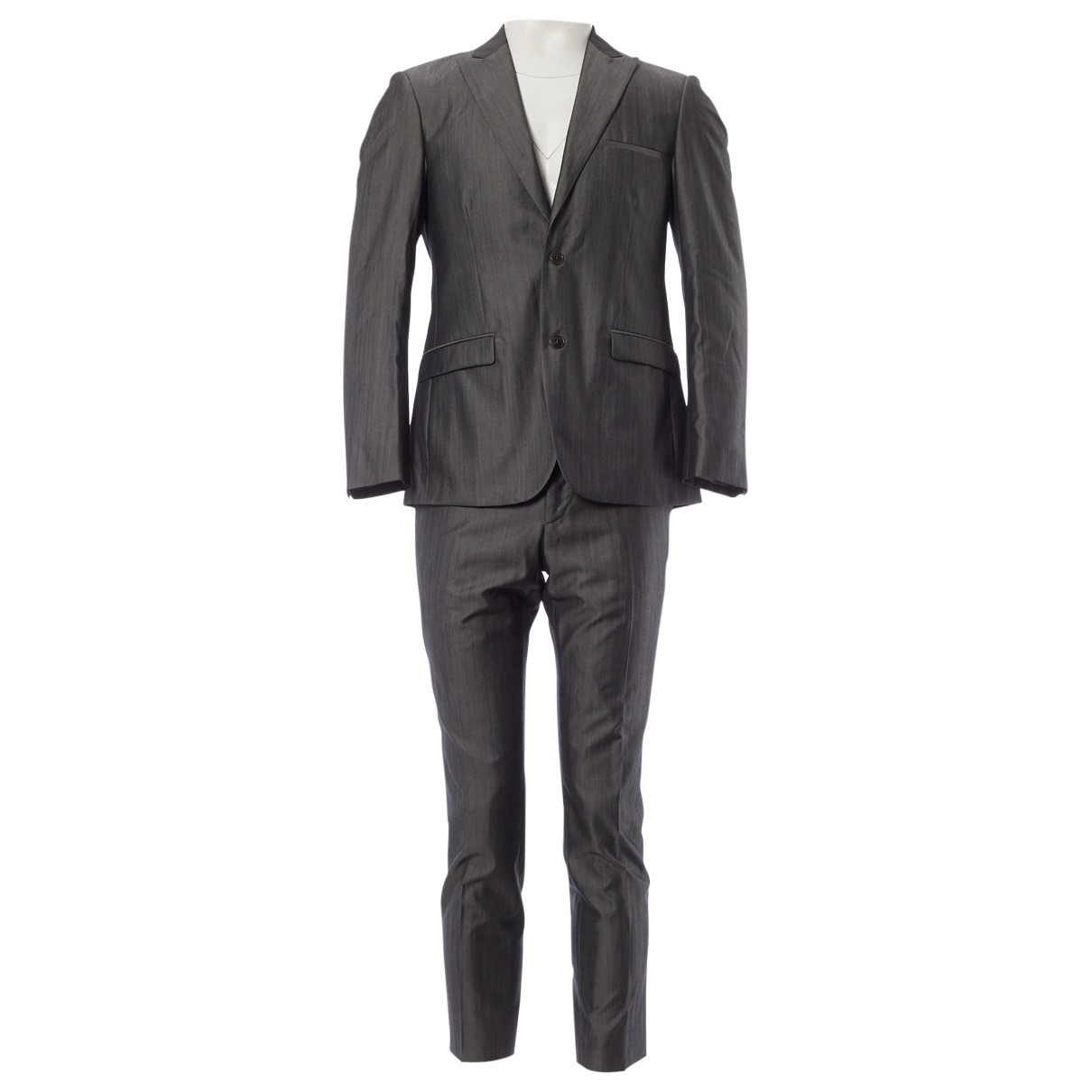 Calvin Klein \N Anzuege in  Grau Wolle