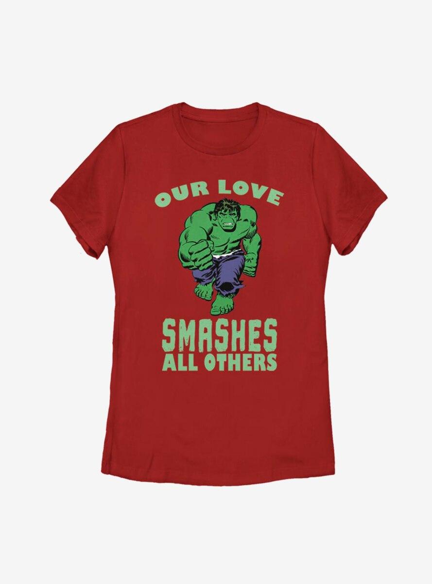 Marvel Hulk Smashing Love Womens T-Shirt