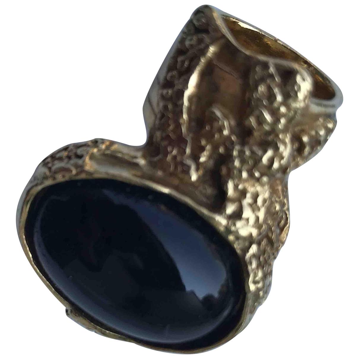Yves Saint Laurent Arty Black Gold plated ring for Women 5 ¼ US