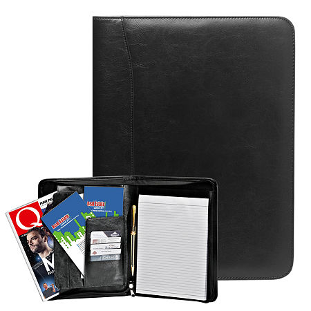 Natico Originals Padfolio Zippered 13x10, One Size , Black
