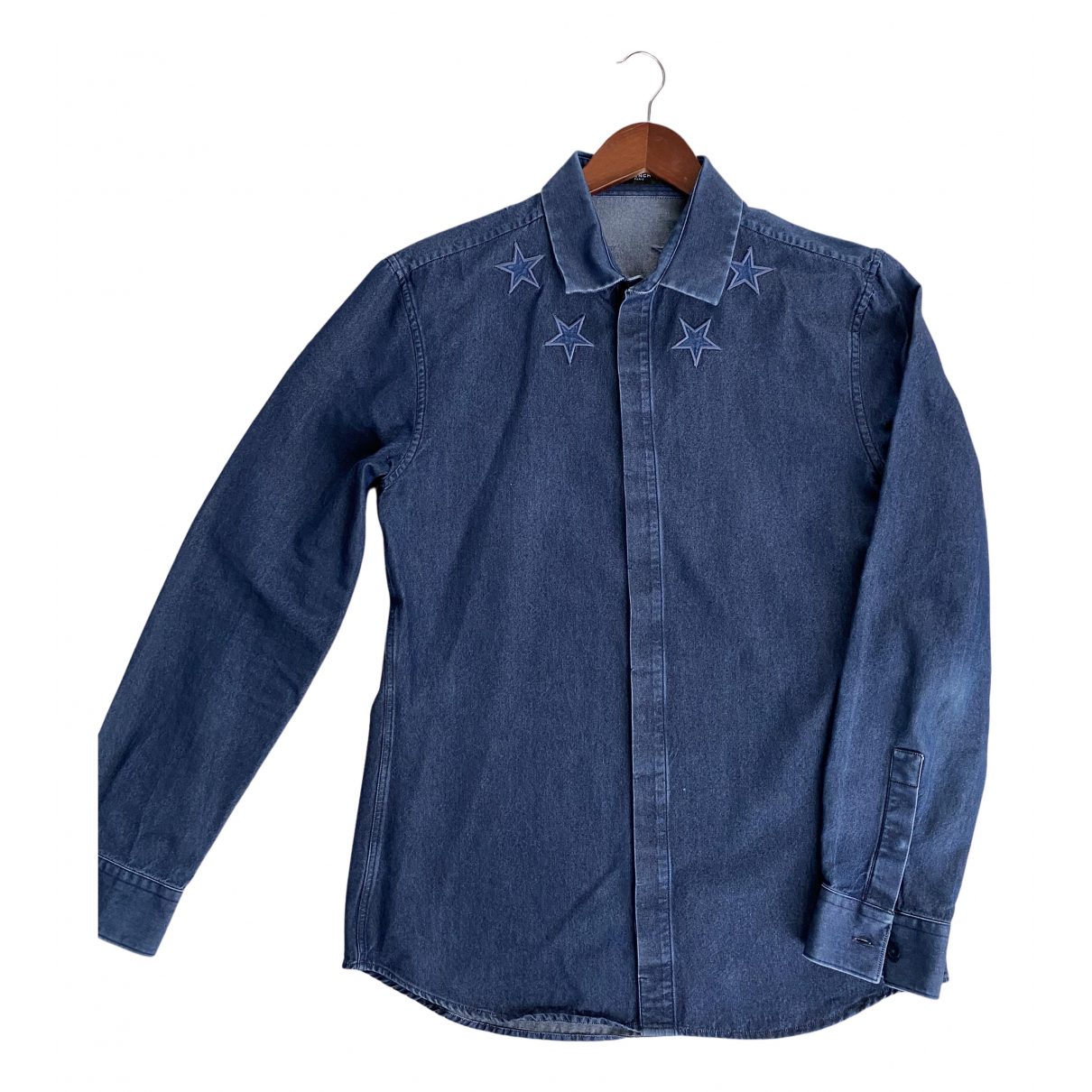 Givenchy N Blue Cotton Shirts for Men 41 EU (tour de cou / collar)