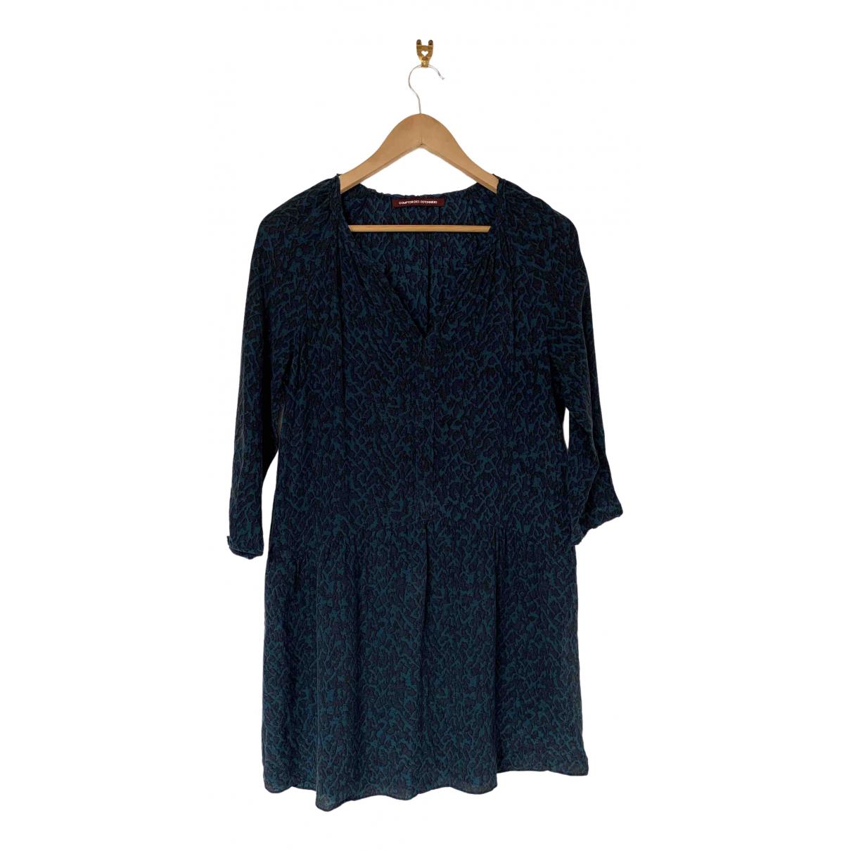 Comptoir Des Cotonniers \N Blue Silk dress for Women 40 FR
