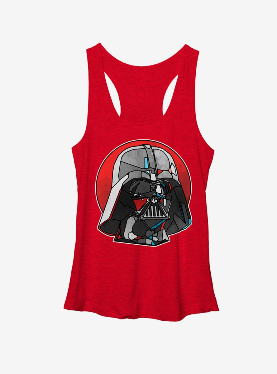 Star Wars Stained Glass Darth Vader Womens Tank