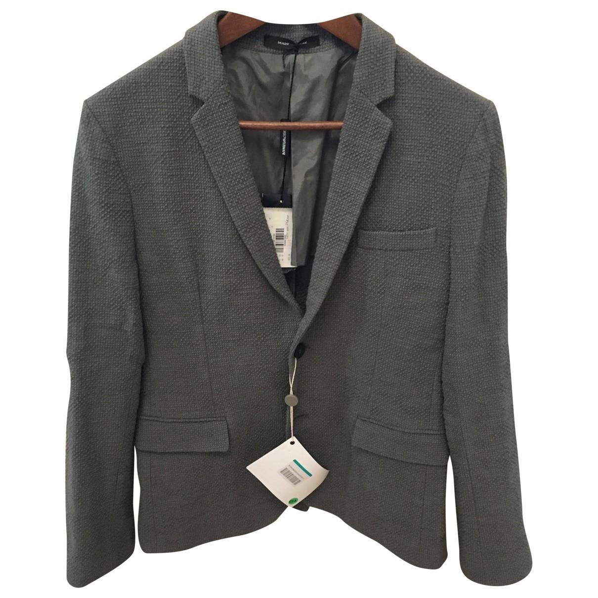 Emporio Armani - Vestes.Blousons   pour homme en coton - gris