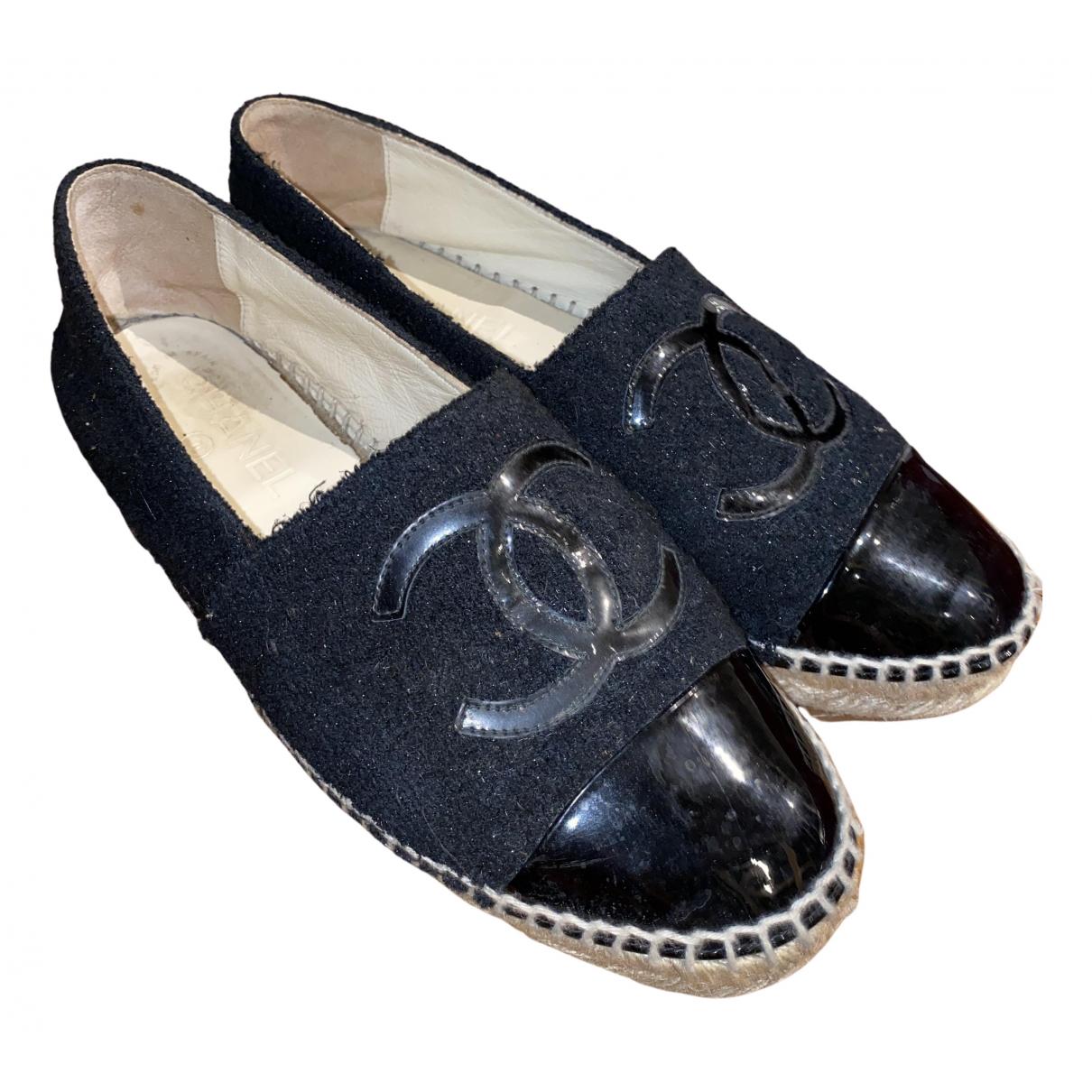 Chanel \N Espadrilles in  Schwarz Leder