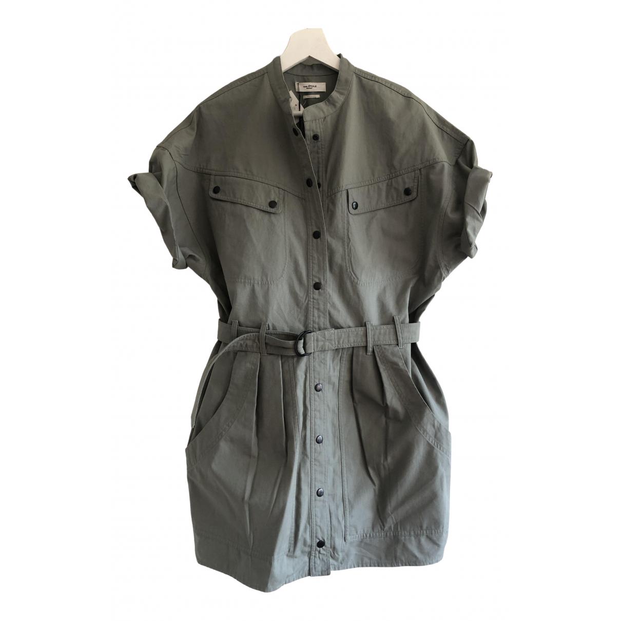 Isabel Marant Etoile \N Green Cotton dress for Women 40 FR