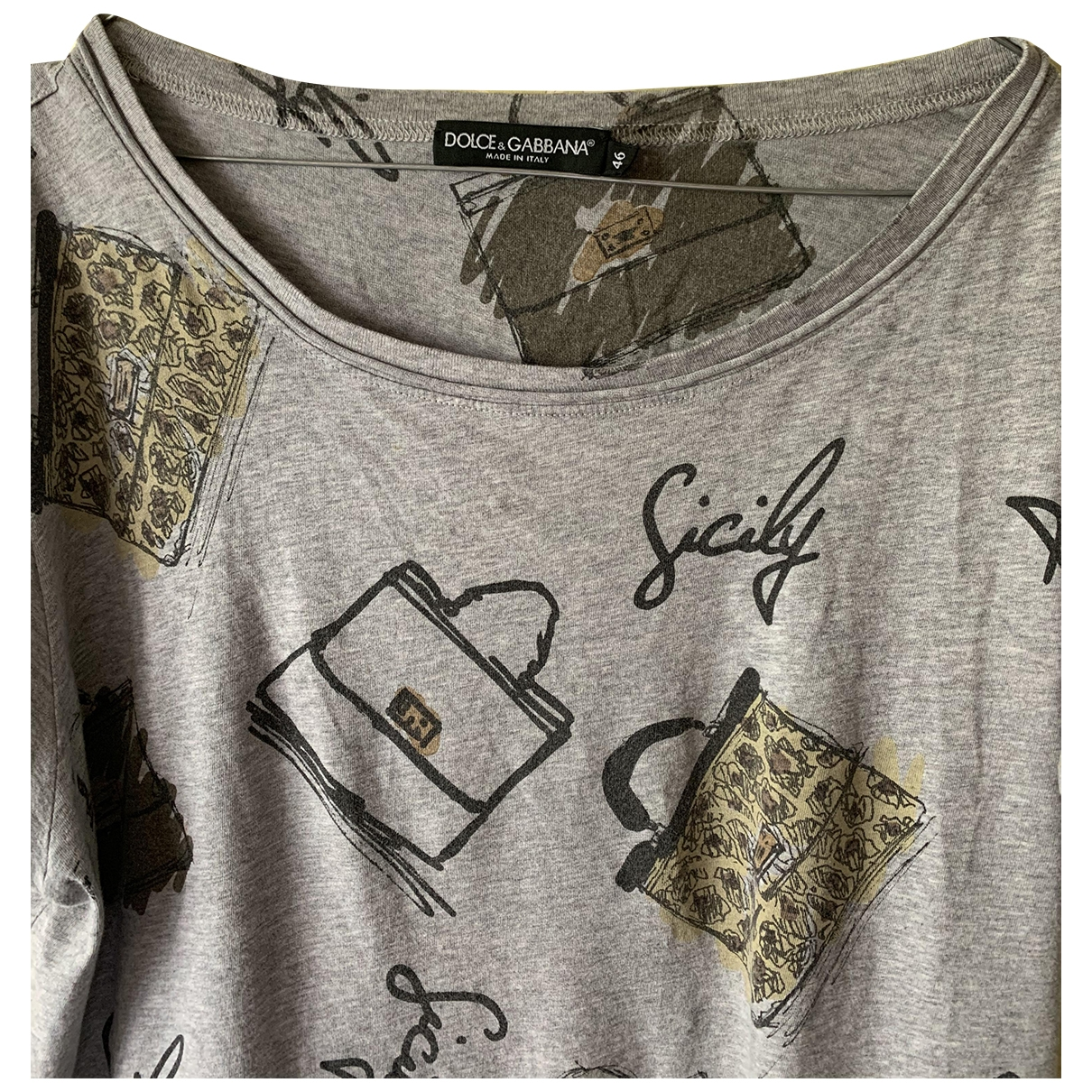 Dolce & Gabbana \N Grey Cotton  top for Women 46 IT