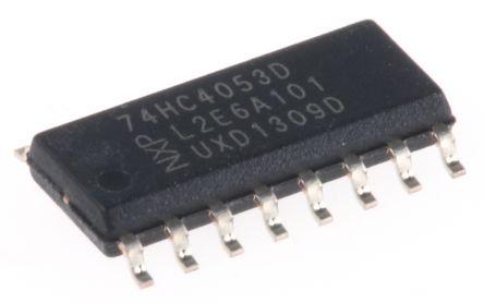 Nexperia 74HC4053D,652 , Multiplexer/Demultiplexer Triple 2:1, 5 V, 16-Pin SOIC (50)