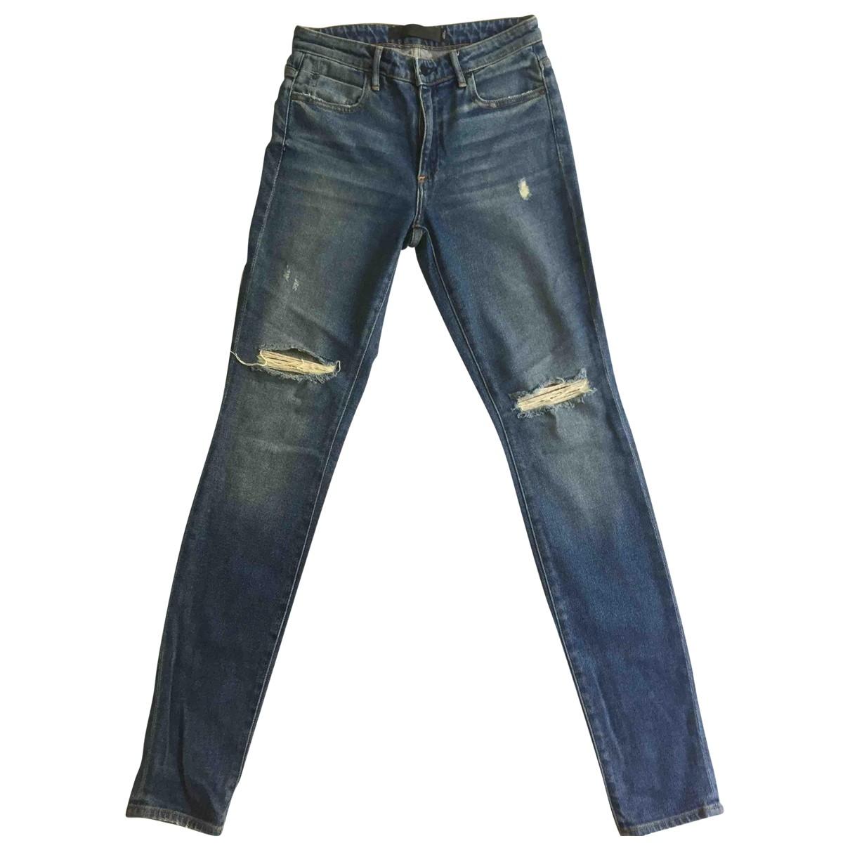 Alexander Wang \N Blue Cotton Jeans for Women 36 FR