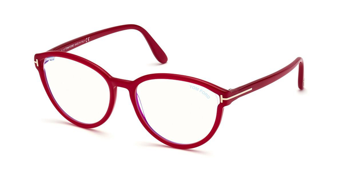 Tom Ford FT5706-B Blue-Light Block 072 Women's Glasses Pink Size 55 - Free Lenses - HSA/FSA Insurance - Blue Light Block Available
