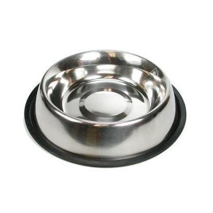 Pet Dog Cat Stainless Steel Round Food Water Feeding Bowl, 32oz