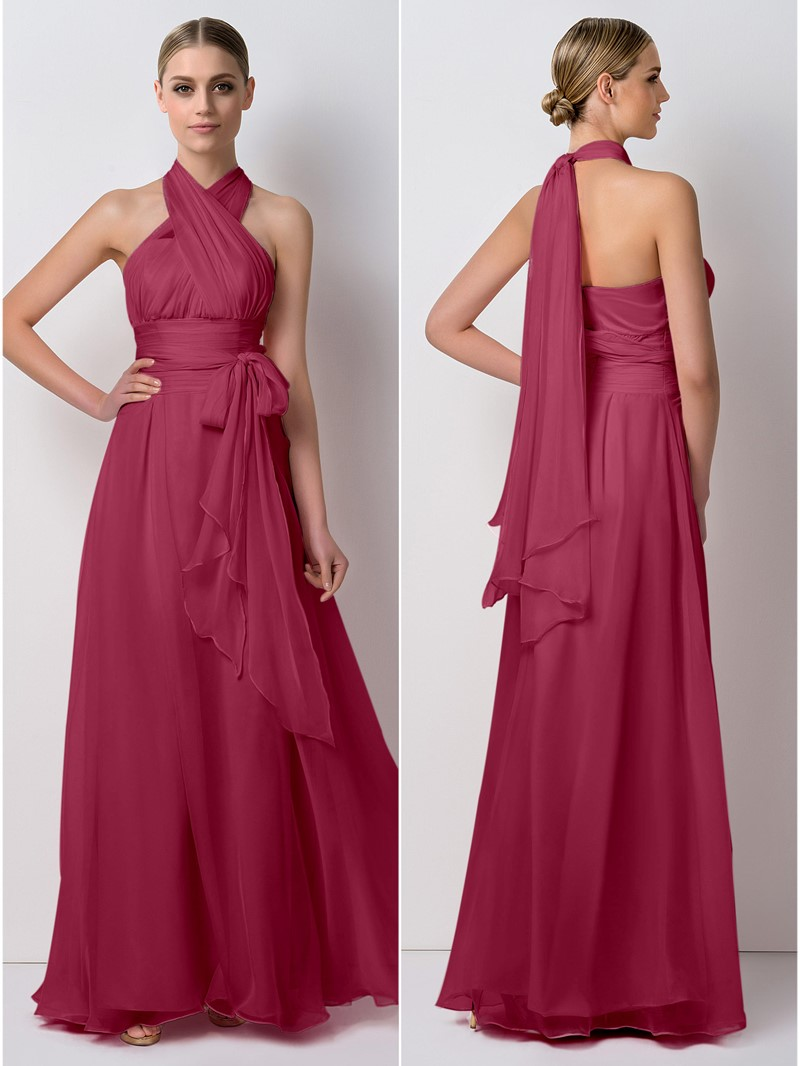Ericdress Unique Sashes Convertible Long Bridesmaid Dress