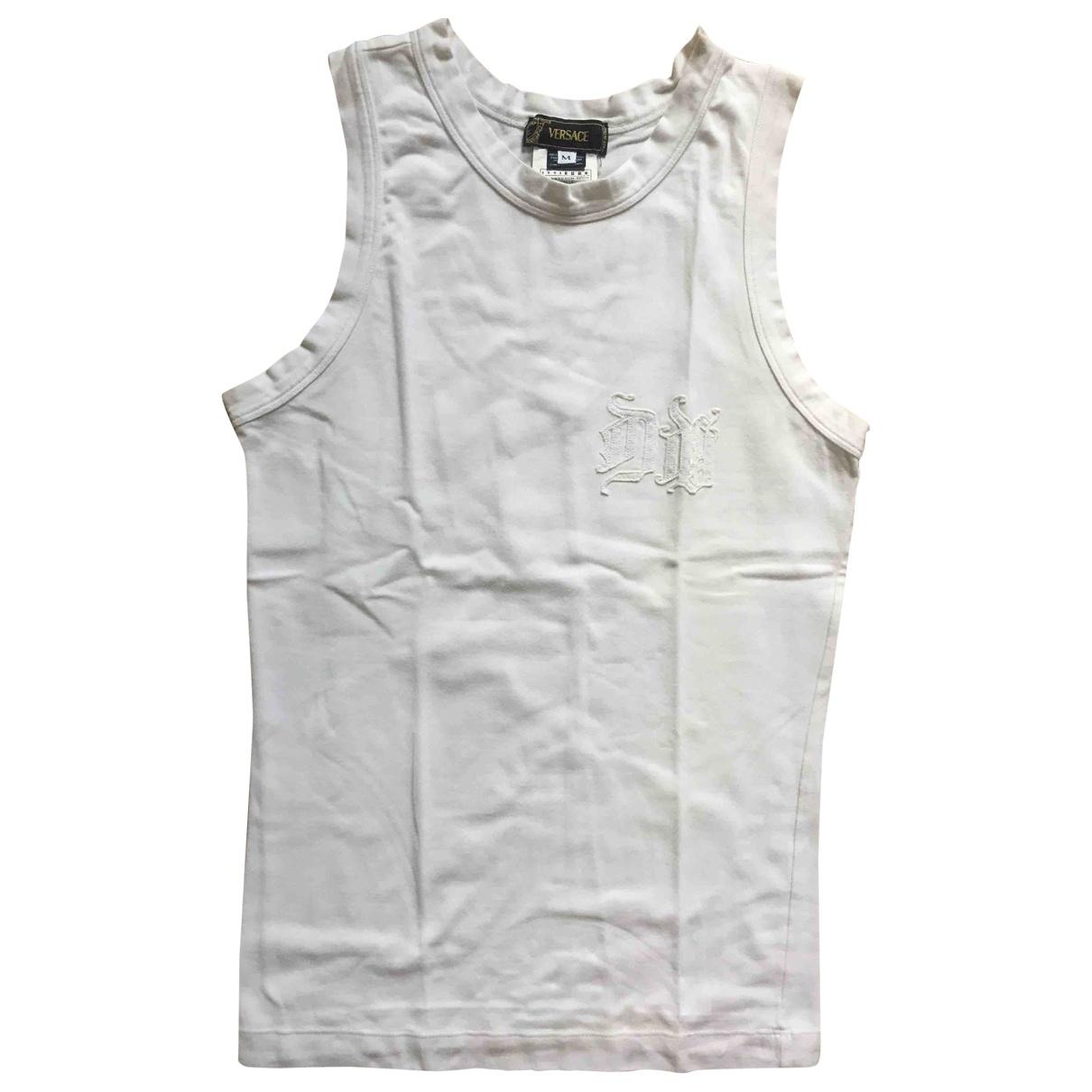 Versace \N White Cotton  top for Women M International
