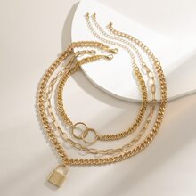 3 Stuecke Halskette mit Verschluss Anhaenger und Kette