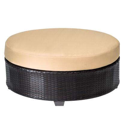 TKC020b-CTRND-SESAME Barbados Round Coffee Table with 2 Covers: Wheat and