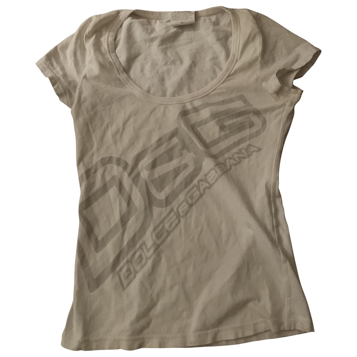 D&g - Top   pour femme en coton - blanc