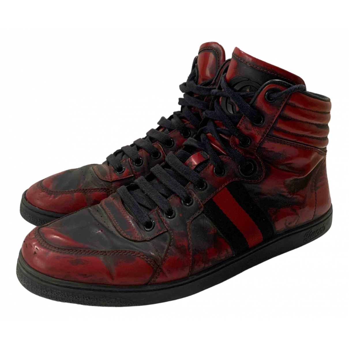Gucci Ace Sneakers in  Rot Leder