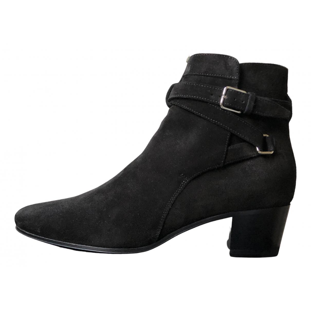 Saint Laurent \N Stiefel in  Schwarz Leder