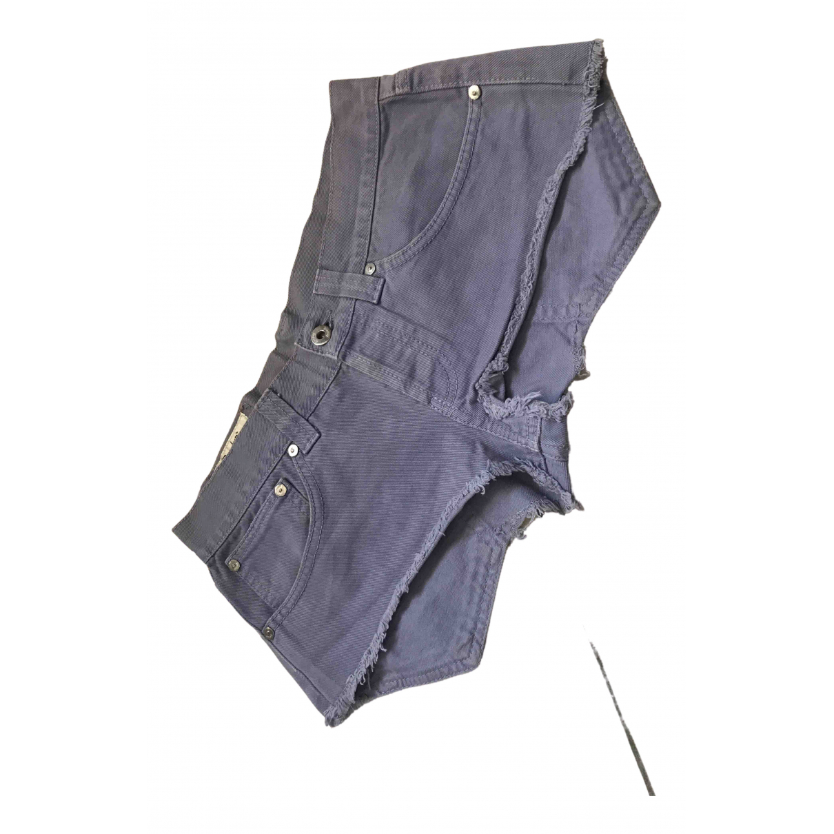 Dondup \N Purple Cotton Shorts for Women 42 IT