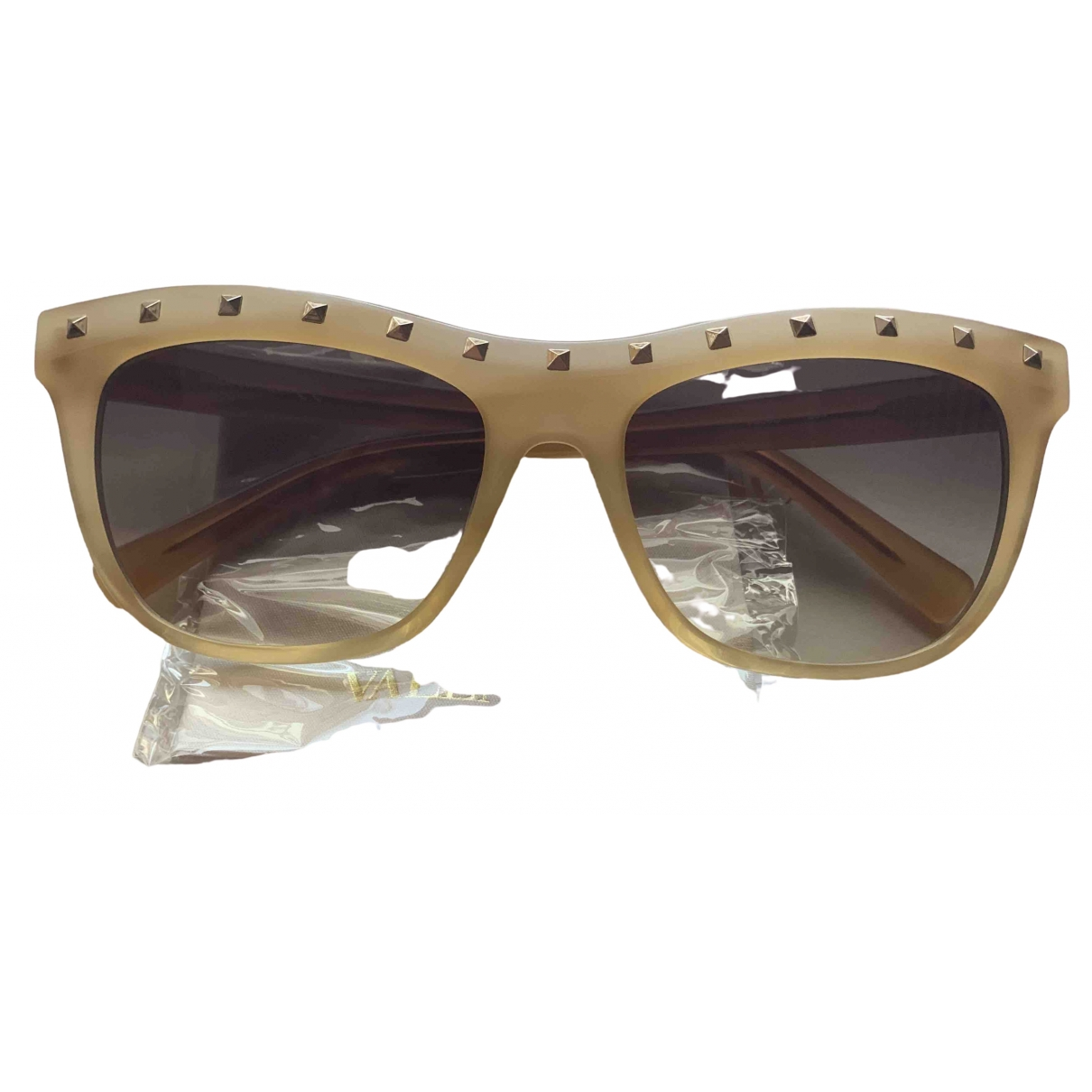 Valentino Garavani \N Beige Sunglasses for Women \N