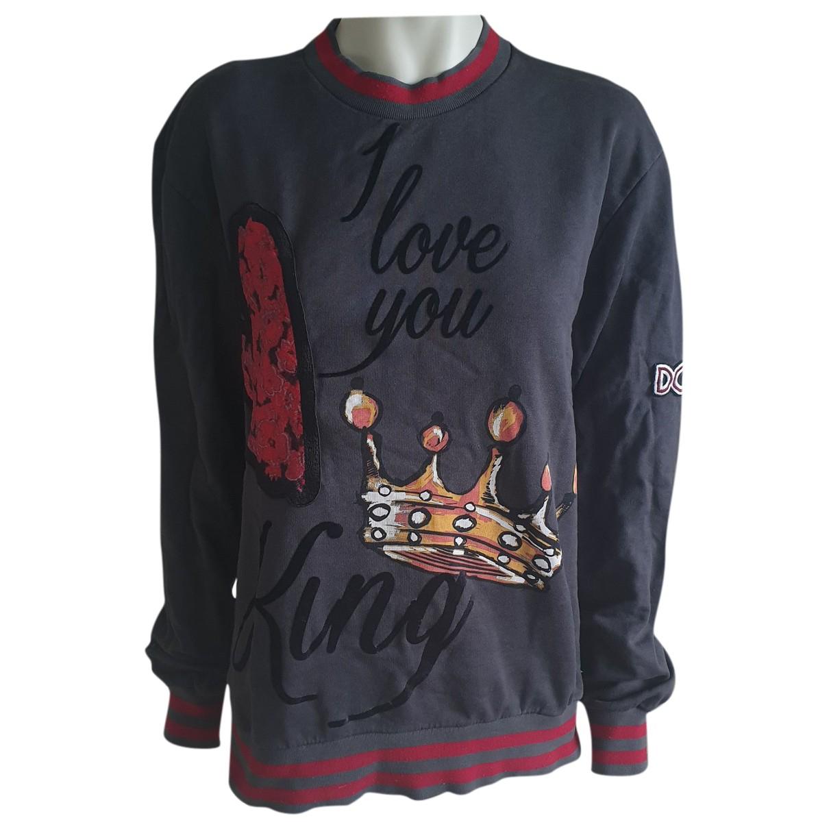 Dolce & Gabbana \N Anthracite Cotton Knitwear & Sweatshirts for Men 48 IT