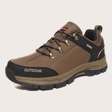 Zapatillas deportivas de hombres con cordon delantero con estampado de letra
